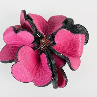 Клипсы для обуви из натуральной кожи Флотар, декорированные камнями Сваровски