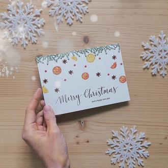 новорічна/різдвяна листівка