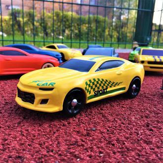 """Деревянная игрушка - машинка """"Chevrolet Camaro Yellow"""""""