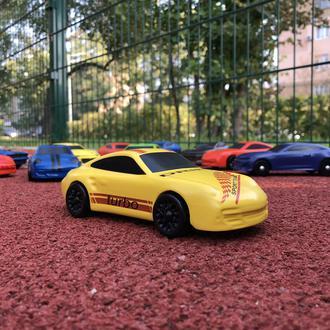 """Деревянная игрушка - машинка """"Porsche 911 Yellow"""""""