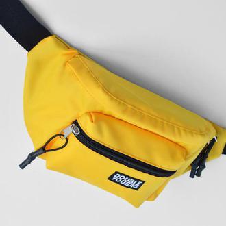 Бананка желтая, сумка на пояс, поясная сумка