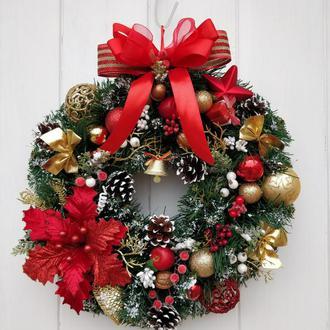 Классический рождественский веночек