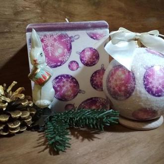 Елочный шар в подарочном коробе