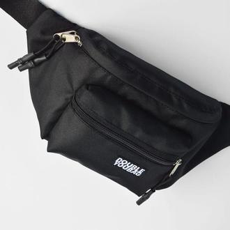 Бананка черная,  сумка на пояс, поясная сумка