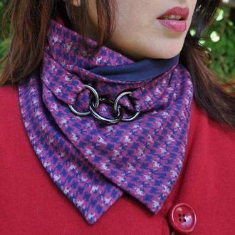 """""""Нью-Йорк"""" шарф мини-снуд, теплый шарф, женский шарф, подарок женщине"""
