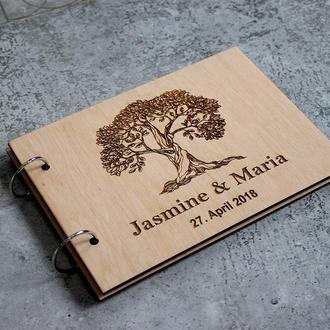 Свадебная книга пожеланий Дерево