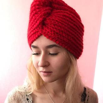 Шапка Чалма, красная//Шапка Чалма, червона