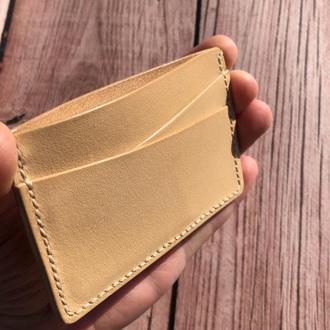 Кожаный кардхолдер кошелек (визитница)
