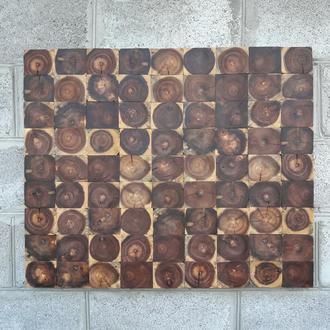 Панно из спилов ореха, картина из дерева, декор, интерьер, эко стиль
