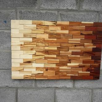 Настенное панно из дерева, картина из дерева, декор стены