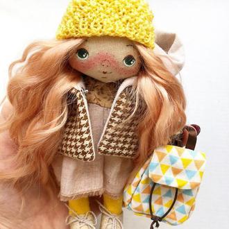 Девочка - Осень! Авторская текстильная куколка