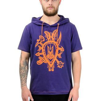 Фіолетова чоловіча футболка з каптуром з принтом Оберіг