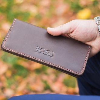 """Кожаный кошелек, портмоне """"Long Serg"""""""