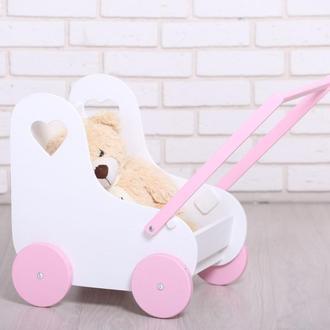 Деревянная коляска для кукол от WoodAsfun, белая