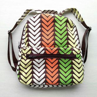 Рюкзак водонепроницаемый «Зелёные елочки»