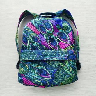 Рюкзак водонепроницаемый «Перья павлина»