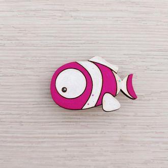 Рыбка розовая