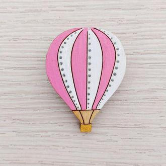 Воздушный шар розово-белый
