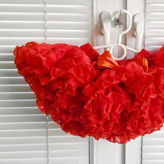 Юбка шифоновая Красная 20 см