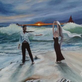 "Картина ""Море чувств"". 50х40 см. Автор - Алек Гросс"