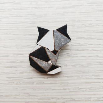 Черная лиса оригами