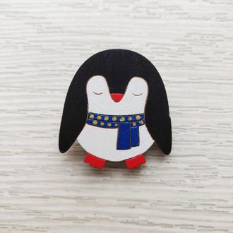 Пингвин с синим шарфиком