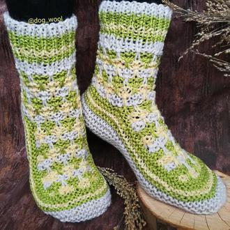 Носки из овечьей шерсти 38-39 теплые зимние вязаные шкарпетки