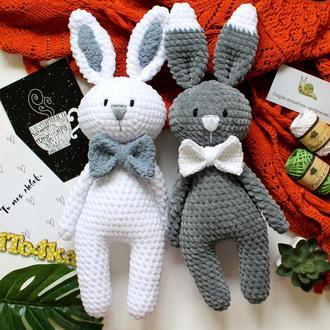 Зайчишки плюшевые мягкие - отличный подарок малышам!
