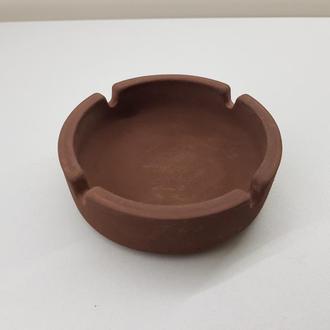 Пепельница из бетона - коричневая