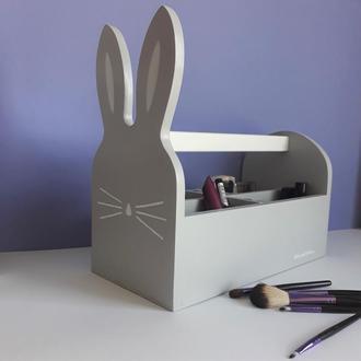 Ящик-зайчик для канцелярии, карандашей, ручек и мелких игрушек. WoodAsFun