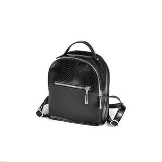 Женский маленький рюкзак Рептилия Черный