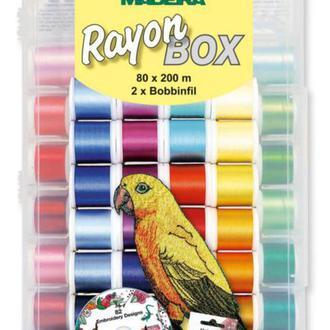 Rayon дорожный, вышивальный набор 200м+CD диск (80xRayon 200м, 2xBobbinfil 1500м)