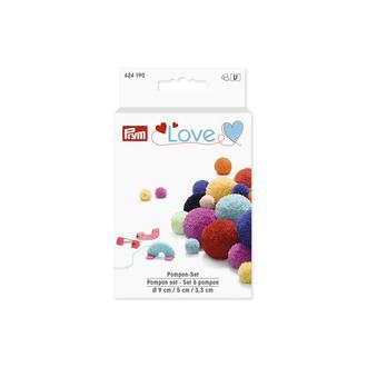 Набор устройств для изготовления помпонов d 9 см, 5 см, 3,3 см,Love,Prym