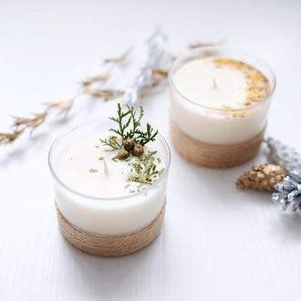 Ароматная массажная свеча из соевого воска, подарок, праздник, декор