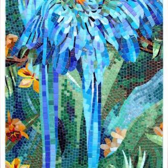 """Мозаика - картина """"Попугаи в джунглях"""""""