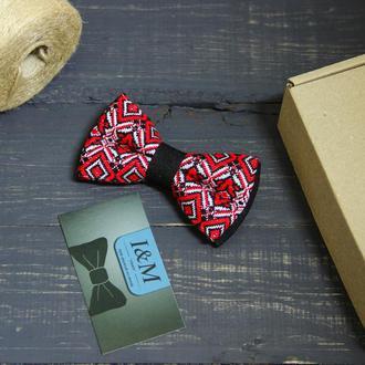 Галстук-бабочка I&M Craft с украинским орнаментом (010226)