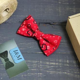 Галстук-бабочка I&M Craft с сердечками (010229)