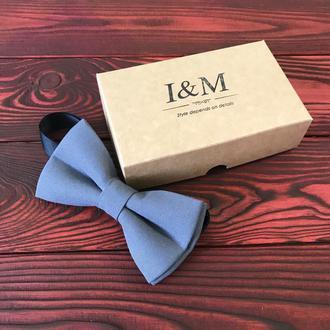 Галстук-бабочка I&M Craft классический серый (010308)