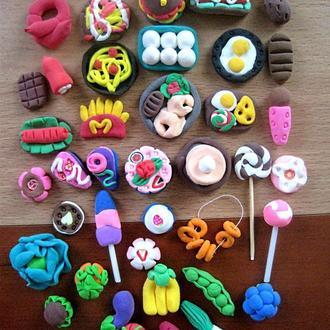 Мини еда,овощи и фрукты для игр или барби. набор из 40шт. все что на фото. детки будут довольны!