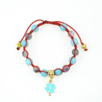 Женский браслет на удачу и от сглаза с натуральными камнями