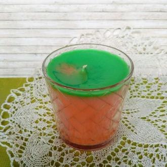 Декоративная ароматическая свеча в подсвечнике Мандарин