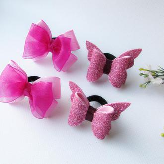 Набор резинок - розовый
