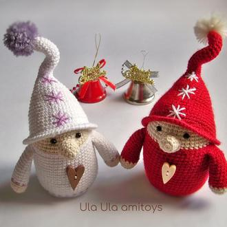 Різдвяні гноми Іграшка амігурумі
