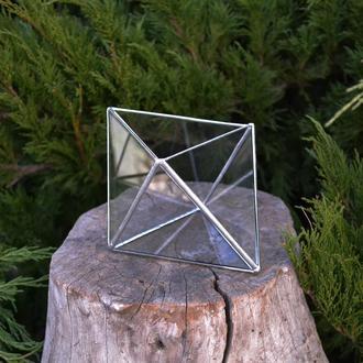Флорариум кашпо Ромб. 15х10х9 см.
