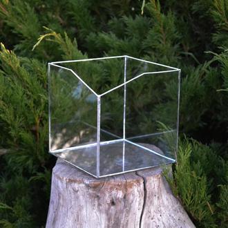 Флорариум кашпо квадрат. 15х15 см