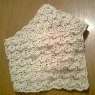Тёплый ажурный шарф