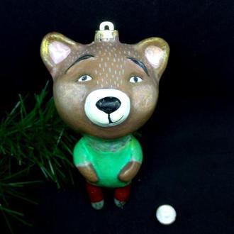 Елочные игрушки мишка медвежонок игрушки на елку