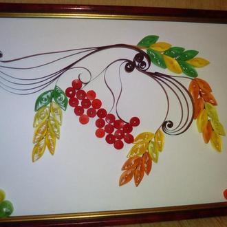 Осенняя картина в технике квиллинг