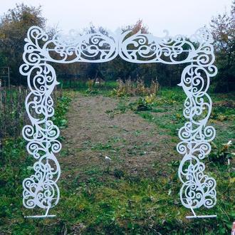 Свадебная арка для выездной регистрации Деревянная резная ажурная Весільна деревяна ажурна арка