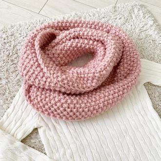 Большой шарф снуд с шерстью альпака